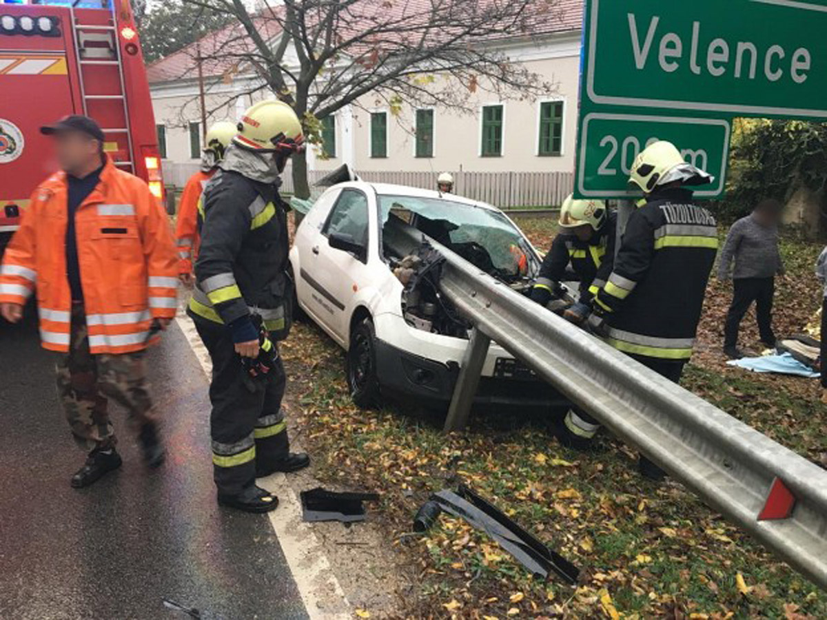 Szerencsés, de dúrva baleset Lovasberényben