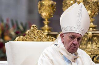 Vatikánváros, 2020. január 1. Ferenc pápa a vatikáni Szent Péter-bazilikában tartott újévi misén 2020. január 1-jén. MTI/EPA/ANSA/Angelo Carconi